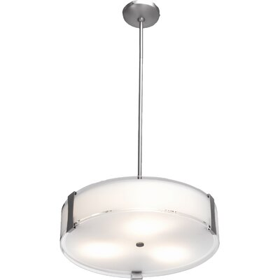 Pastrana 3-Light Convertible Drum Pendant