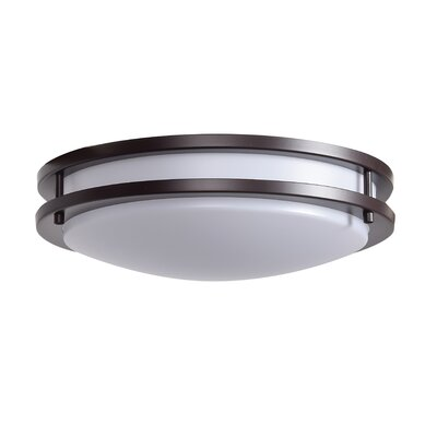 Alana 1-Light 30W Flush Mount Finish: Bronze