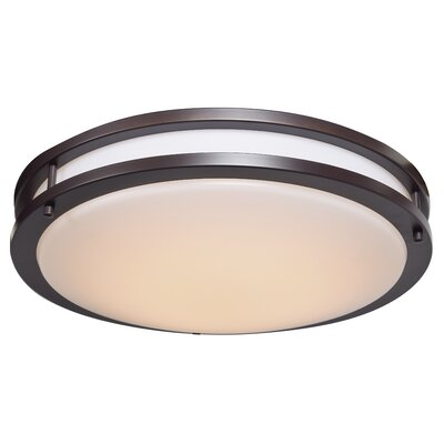 Penning 1-Light 35W Flush Mount Finish: Bronze