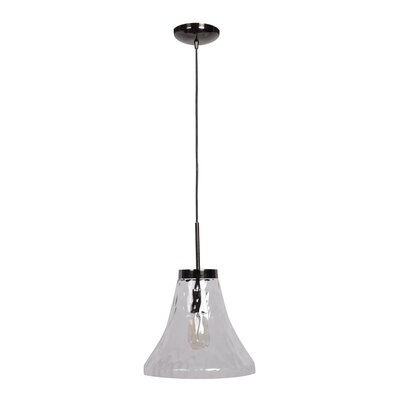 Sullivan Street 1-Light Mini Pendant Shade Color: Clear