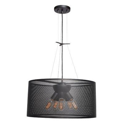 Lacey Round 5-Light Drum Pendant Size: 10 H x 19.7 W x 19.7 D