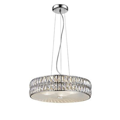 Rolston Crystal 1-Light 33W Drum Pendant