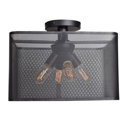 Lacey Square 4-Light 5W Semi Flush Mount