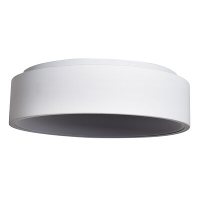 Devery 1-Light Flush Mount Finish: White