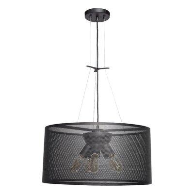 Lacey Round 5-Light Drum Pendant Size: 12 H x 23.6 W x 23.6 D