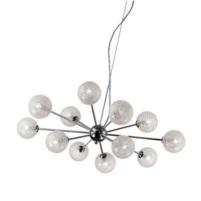 Nadia Glitter Glass 12-Light 4.5W Sputnik Chandelier