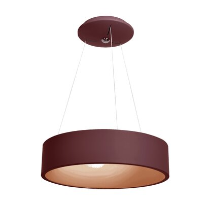 Devery 1-Light Drum Pendant Finish: Brick