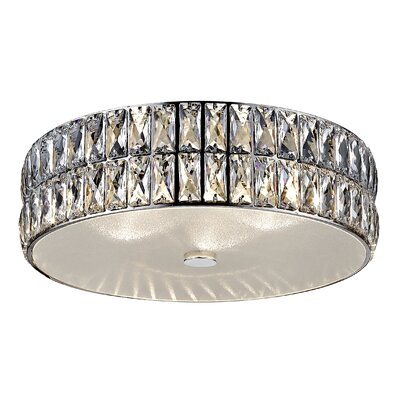 Rolston Crystal 1-Light Flush Mount
