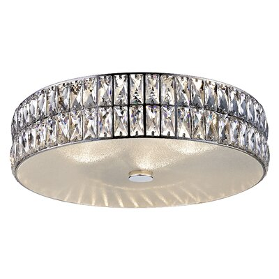 Rolston Crystal 1-Light 38.5W Flush Mount