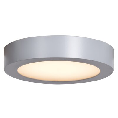 Deverick Outdoor 1-Light 14W Flush Mount Finish: Silver