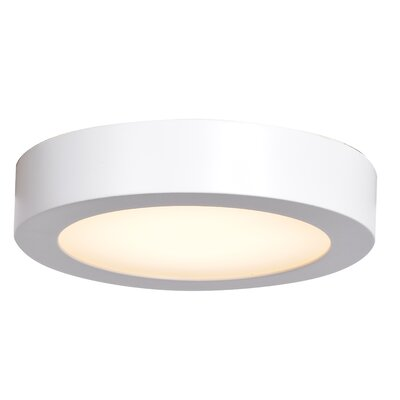 Deverick Outdoor 1-Light 14W Flush Mount Finish: White