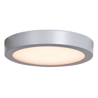 Deverick Outdoor 1-Light LED Flush Mount Finish: Silver