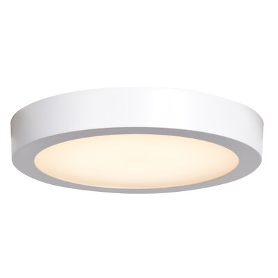 Deverick Outdoor 1-Light LED Flush Mount Finish: White