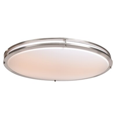 Penning Oval 1-Light Flush Mount Finish: Brushed Steel
