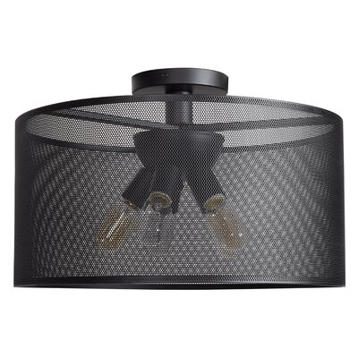 Lacey Round 5-Light Semi Flush Mount Size: 10 H x 19.7 W x 19.7 D