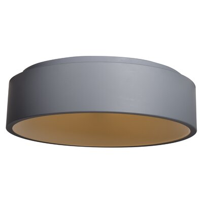 Devery 1-Light Flush Mount Finish: Gray