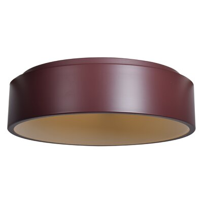 Devery 1-Light Flush Mount Finish: Brick
