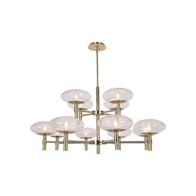 Forontenac 12-Light Candle-Style Chandelier Finish: Brushed Steel