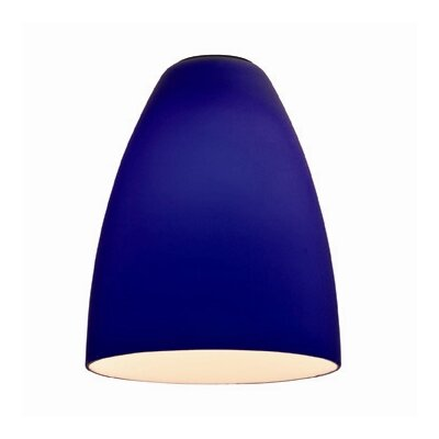 4 Glass Oval Pendant Shade Finish: Cobalt