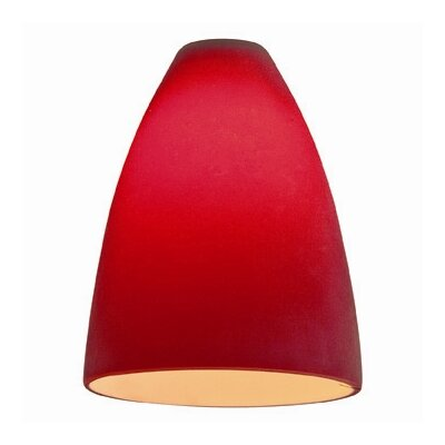 4 Glass Oval Pendant Shade Finish: Red