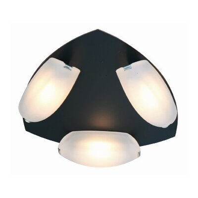 Sundorne 3-Light Semi-Flush Mount Finish: Oil Rubbed Bronze