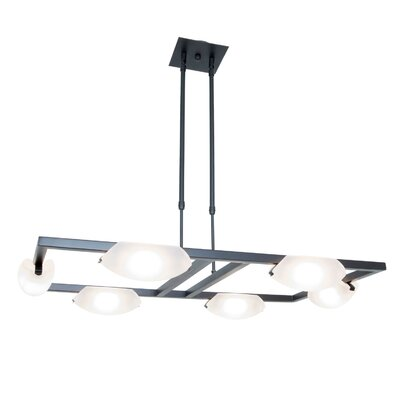 Sundorne 6-Light Modern Kitchen Island Pendant Finish: Oil Rubbed Bronze