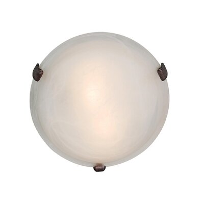 Caves Flush Mount Finish: Rust, Size: 3.5 H x 12 Diameter