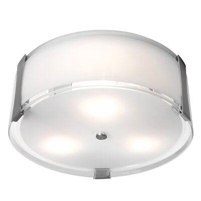 Tara 3-Light Flush Mount Size: 4.75 H x 14 Diameter