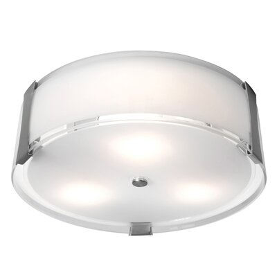 Tara 3-Light Flush Mount Size: 4.75 H x 18 Diameter