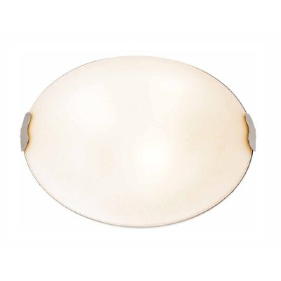 Linen Flush Mount Size: 4.5 H x 12 Diameter