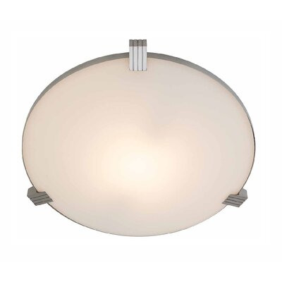 Luna 1-Light Flush Mount Size: 3 H x 13.5 Diameter