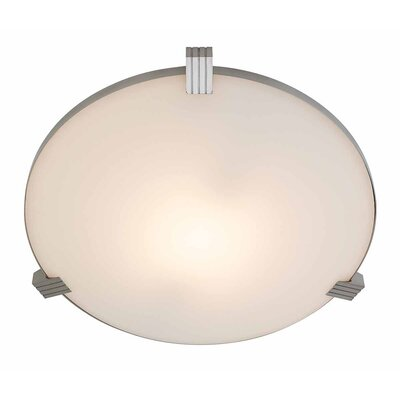 Roseboro 1-Light Flush Mount Size: 4.3 H x 17.25 Diameter
