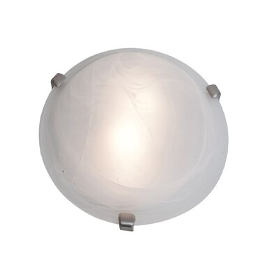 Mona Flush Mount Finish: Chrome, Size: 3.5 H x 12 Diameter