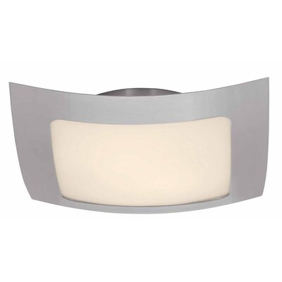 Access Lighting 50068-Bs-Opl Argon 3 Light Flush Mount Brushed Steel 50068-BS/OPL