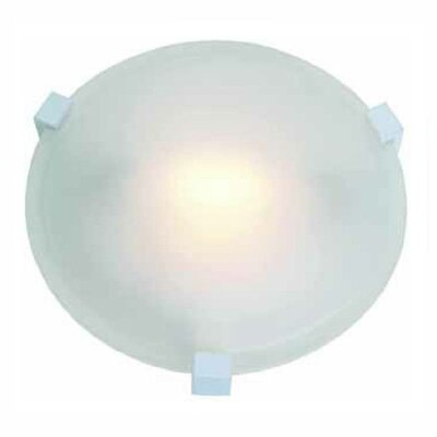 Cirrus 1-Light Flush Mount Finish: White, Size: 3 H x 8.25 Diameter, Shade Color: Frosted Glass