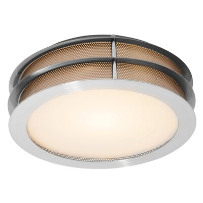 Iron 1-Light Flush Mount Size: 4 H x 12 Diameter