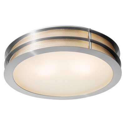 Iron 1-Light Flush Mount Size: 4 H x 16 Diameter