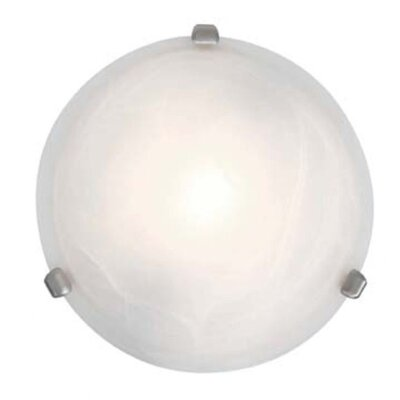Nimbus 1-Light Flush Mount Finish: Satin Nickel, Size: 4 H x 12.5 Diameter