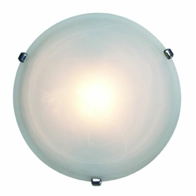 Nimbus 1-Light Flush Mount Finish: Chrome, Size: 5 H x 16.5 Diameter