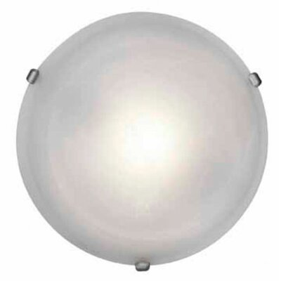 Nimbus 1-Light Flush Mount Finish: Satin Nickel, Size: 5 H x 16.5 Diameter