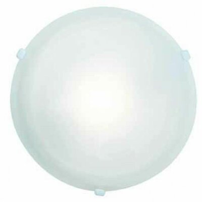 Teran 1-Light Flush Mount Finish: White, Size: 5 H x 16.5 Diameter
