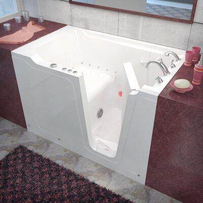Crescendo 60 x 36 Walk-In Air Jetted Bathtub Drain Location: Right