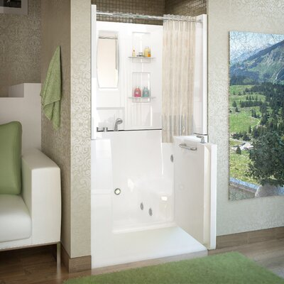 Mesa 40 x 31 Walk-In Whirlpool Bathtub Drain Location: Left