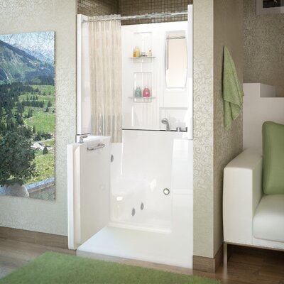 Mesa 40 x 31 Walk-In Whirlpool Bathtub Drain Location: Right