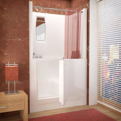 Telluride 47 X 27 Walk-In Bathtub Drain Location: Left