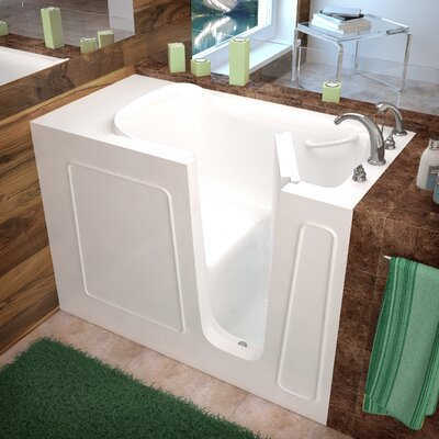 Santa Fe 53 x 26 Walk-In Bathtub Color: White, Drain Location: Right