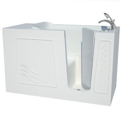 Captains Series 60 x 30 Soaking Bathtub Drain Location: Right