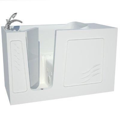 Captains Series 60 x 30 Dual Whirlpool & Air Bathtub Drain Location: Left
