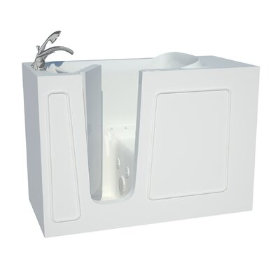 Captains Series 53 x 26 Dual Whirlpool & Air Bathtub Drain Location: Left