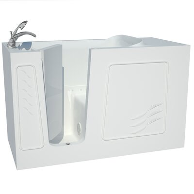 Captains Series 60 x 30 Air Jetted Bathtub Drain Location: Left